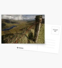 Rusty old fence at the Conor Pass Postcards