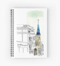 Avinguda de la republica Argentina in Barcelona Spiral Notebook