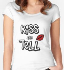 Kiss and tell Women's Fitted Scoop T-Shirt