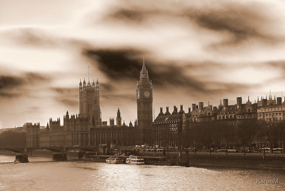 Sepia Westminster by KarenM