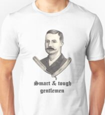 Barbero Gentleman caballero Vintage Rockabilly Peaky Blinders Moustache T-Shirt