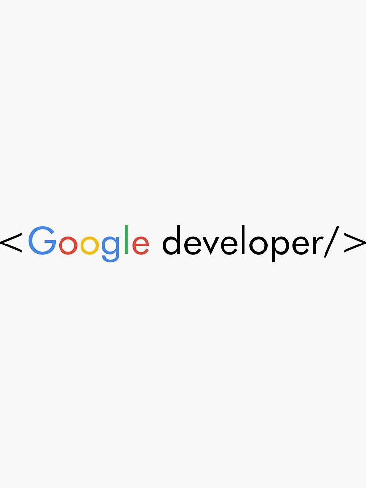 Google Developer by computer-nerd