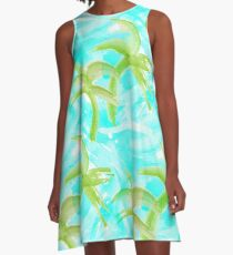 Tropical Abstract_Oceans A-Line Dress
