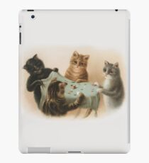 Cats Playing Tiddlywinks iPad Case/Skin