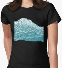 Distant Snow- 遠雪 : linocut Womens Fitted T-Shirt