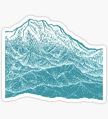 Distant Snow- 遠雪 : linocut Sticker