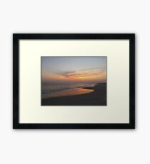 Beautiful Sky On The Beach Framed Print