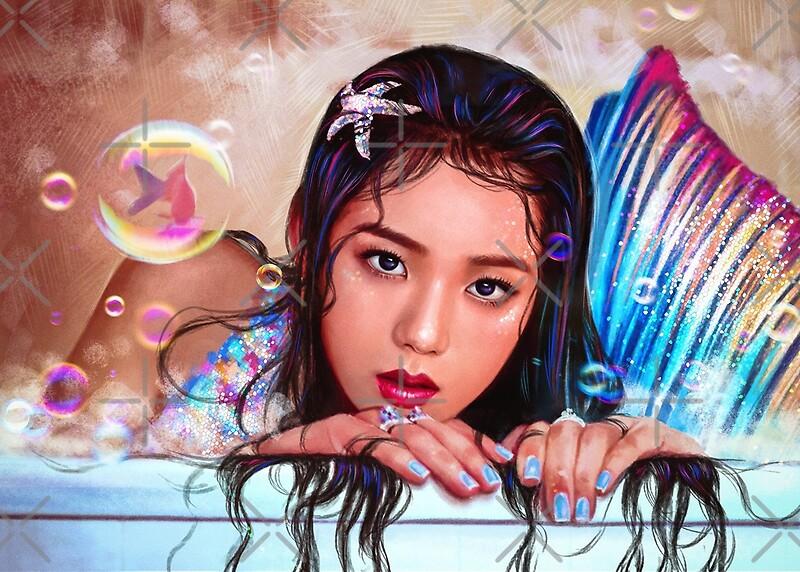 Quot Blackpink Jisoo Quot Mermaid Quot Quot By Ellen Drawings Redbubble