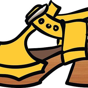 Yellow Fluevog Clog Sandal by annembray