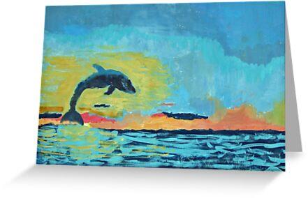 Dolphin Sunset - Hannah B by John Brotheridge