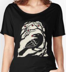Autumn Berries Bird Print Women's Relaxed Fit T-Shirt