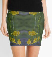 Yellow Flag Iris - Donegal Mini Skirt
