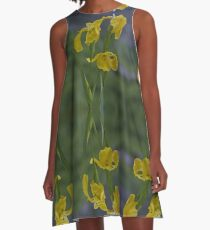 Yellow Flag Iris - Donegal A-Line Dress