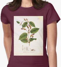 Nova genera et species plantarum V1 V3 Plates Karl Friedrich Philipp von Martius 1834 214 Womens Fitted T-Shirt