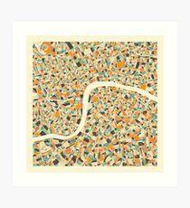 LONDON MAP (2) Art Print