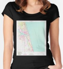 USGS TOPO Map Florida FL Jupiter 346877 1948 24000 Women's Fitted Scoop T-Shirt