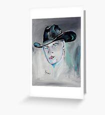 The Cowboy - Cowboy Art by Valentina Miletic Greeting Card