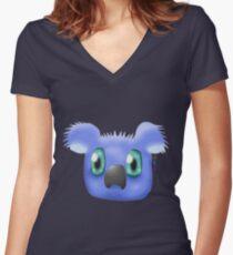 Indigo Koala Women's Fitted V-Neck T-Shirt