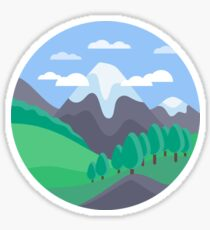 Mountain Lanscape Sticker