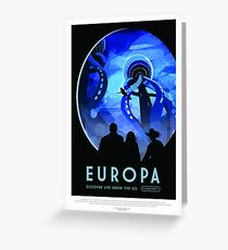 NASA Space Tourism Posters: Europa Greeting Card
