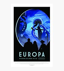 NASA Space Tourism Posters: Europa Photographic Print