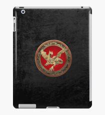 Golden Guardian Dragon over Black Velvet iPad Case/Skin