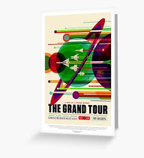 NASA Space Tourism Posters: Grand Tour Greeting Card
