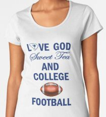 College Footballs Fan Faves Women's Premium T-Shirt