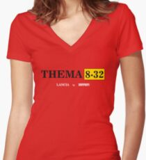 Lancia Thema 8.32 Women's Fitted V-Neck T-Shirt