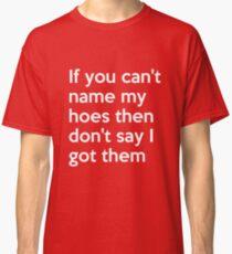 If you can't name my hoes then don't say I got them t-shirt Classic T-Shirt
