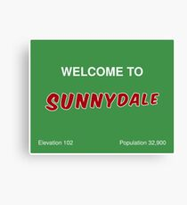 Sunnydale Sign - Welcome Canvas Print