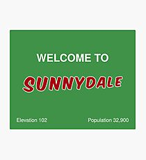 Sunnydale Sign - Welcome Photographic Print