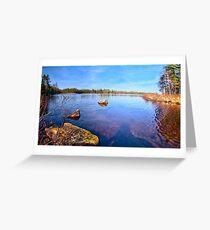 Reflections at Havsjöleden Greeting Card