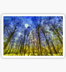 Vincent Van Gogh Forest Art Sticker
