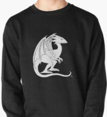 Smirking Dragon (white) Pullover Sweatshirt