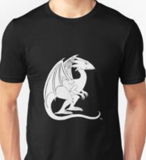 Smirking Dragon (white) Unisex T-Shirt