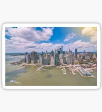 NYC Manhattan Aerial View Sticker