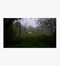 Table in nowhere Photographic Print