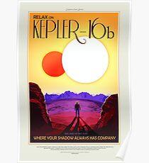 NASA Space Tourism Posters: Kepler 16b Poster