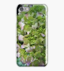 Lime-Green Hydrangea iPhone Case/Skin