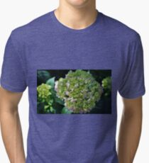 Lime-Green Hydrangea Tri-blend T-Shirt