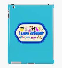❤↷I Love Animals-Animal Lovers↶❤ iPad Case/Skin
