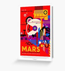 NASA Space Tourism Posters: Mars Greeting Card