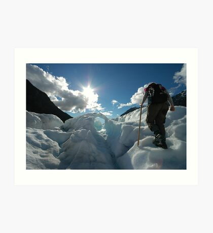 glacier walk arch Art Print