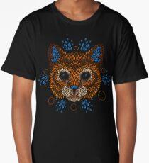 Cat Face Long T-Shirt