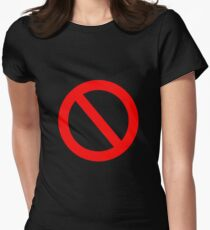 No Go Women's Fitted T-Shirt