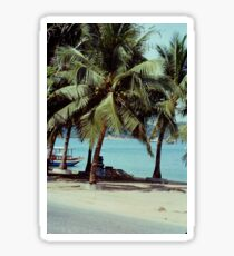 Vintage Palm Tree Beach Sticker