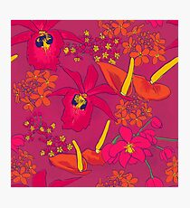 Hot Pink Tropical Flora Photographic Print