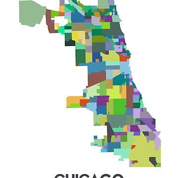 Chicago Neighborhood Map by joshbergman