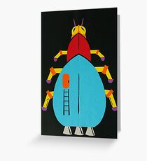Interplanetary Insect Travel Greeting Card